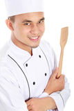 Portrait of chef smiling Stock Photography