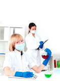 Portrait of chemists Stock Photography