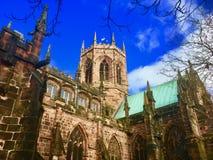 Portrait of the Cheshire church. St Marys Church Nantwich Cheshire England united kingdom stock image