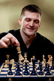 Portrait of a chess player Stock Photos