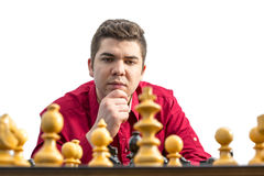 Portrait of a Chess Player Stock Image