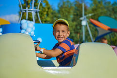 Portrait of a child at an amusement park Royalty Free Stock Image