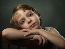 Portrait of a child. Royalty Free Stock Photos