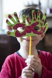 Portrait of a child with carnival mask Royalty Free Stock Photos