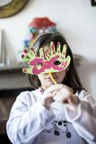 Portrait of a child with carnival mask Royalty Free Stock Photography
