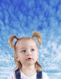 Portrait of the child close up Royalty Free Stock Image