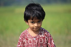 Portrait of a child. A child is in the field Stock Photos