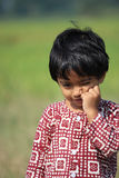 Portrait of a child. A child is in the field Royalty Free Stock Image