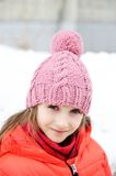 Portrait of child girl in winter clothes Royalty Free Stock Photography