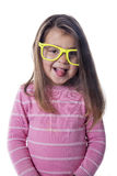 Portrait child with glasses. Nice portrait child with glasses in studio Royalty Free Stock Image