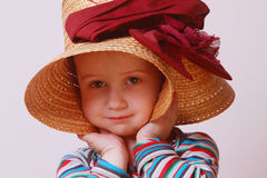 Portrait of a child in a hat Stock Photography