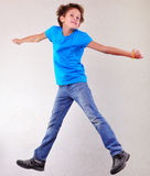 Portrait of child  jumping and dancing Stock Images