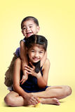 Portrait of a child the love of brother and sister Royalty Free Stock Photo