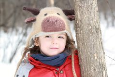 Portrait during winter Stock Image