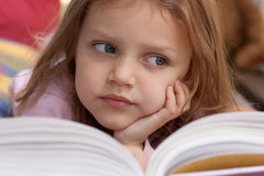 Child with book Stock Image