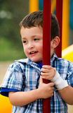 Portrait of  child at playground Stock Image
