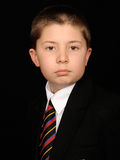 Portrait of child in suit Stock Photography
