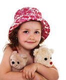 Portrait of child with toys Royalty Free Stock Photography