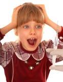 Portrait of child.Vaccination. Emotion portrait of child.Vaccination Stock Photography