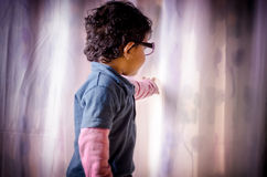 Portrait of child wearing glasses Stock Photos