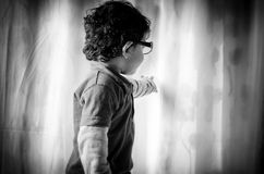 Portrait of child wearing glasses Royalty Free Stock Images