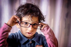Portrait of child wearing glasses Stock Image