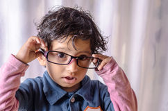Portrait of child wearing glasses Stock Images