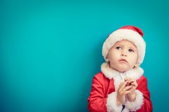Baby having fun at Christmas time Royalty Free Stock Photos