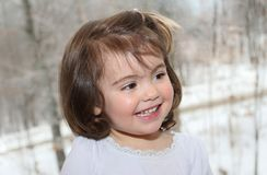 Portrait of child during winter Stock Photos