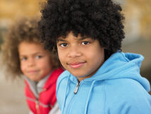 Portrait of children. Looking at camera royalty free stock photos