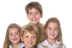 Portrait of children. Isolated on white stock photo