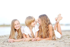 Portrait of children on the beach Royalty Free Stock Photo