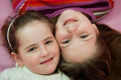 Portrait of children - detail Royalty Free Stock Images