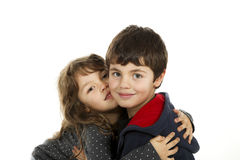 Portrait of children embraced Royalty Free Stock Photos