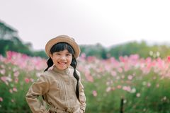 Portrait children feeling happy in summer Stock Images