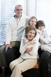 Portrait of children with grandparents Stock Image