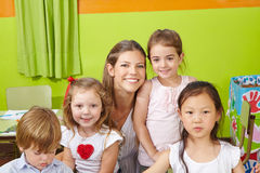 Portrait of children Stock Image