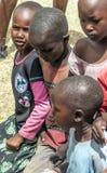 Portrait of children Masai Mara Stock Photo
