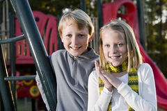 Portrait of children at park Stock Photo
