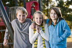Portrait of children at park Stock Image