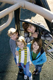 Portrait of children at park Royalty Free Stock Image