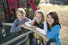 Portrait of children at park Stock Images