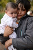 Portrait of children refugee Royalty Free Stock Photo
