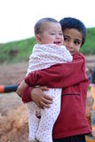 Portrait of children refugee Royalty Free Stock Image