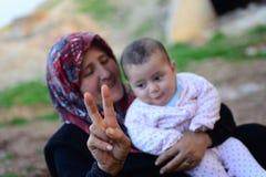 Portrait of children refugee Royalty Free Stock Photos