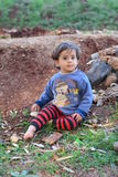 Portrait of children refugee. During civil war in Syria quite 8 milions people left their homes. Quite a half of them are children. More tham 2 milions people Royalty Free Stock Photography
