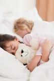 Portrait of children sleeping Stock Image