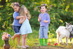 Portrait of children in the summer Royalty Free Stock Photography