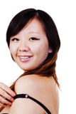 Portrait Chinese American Woman Looking Over Shoulder Stock Images
