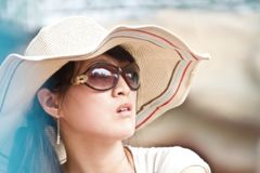 Portrait of Chinese beautiful girl Stock Images